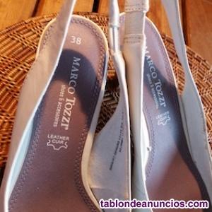 Zapatos italianos de piel blancos