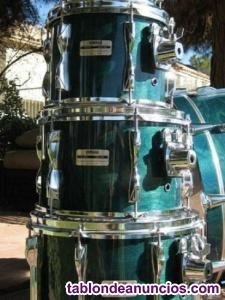 """Toms 10"""" y 12"""" yamaha 9000 recording custom deep aqua (jazz sizes)"""