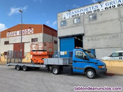 Conjunto de camion iveco con semiremolque veldhuizen