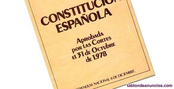 Test y esquemas Constitución. Oposciones
