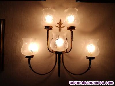 Lampara de pared de cinco luces vintage