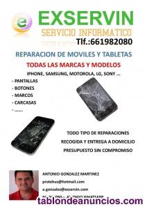 Reparación móviles recogida y entrega a domicilio. Whatsapp 66198208