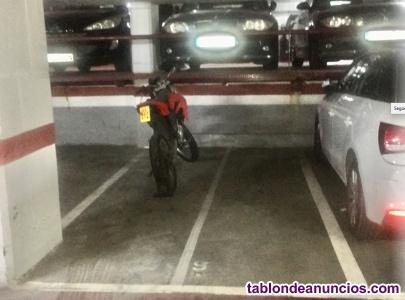 Plaza para 2 motos!
