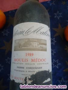 Vino bordeus tinto año 1989 !!!
