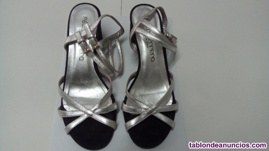 Zapato tacón  verano mujer de piel