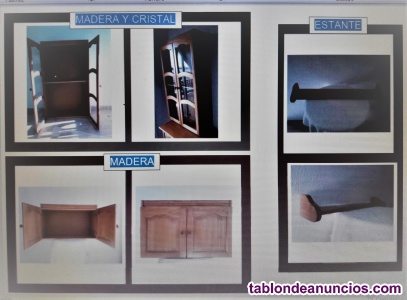 Muebles de pared (2) y estante (1)