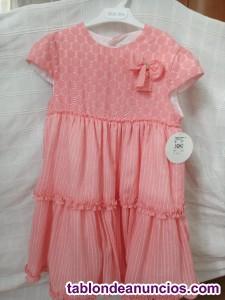 Vestido verano rosa niña