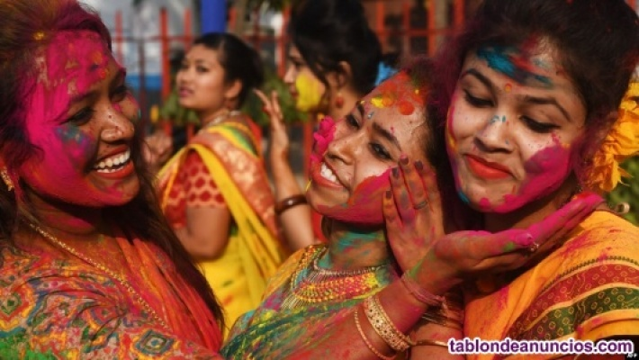 Celebración de holi en India   festival de los colores