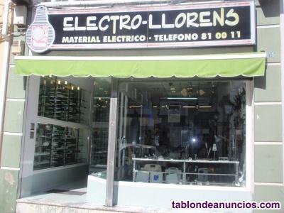 Traspaso negocio de instalaciones eléctricas y venta de materiales eléct e ilumi