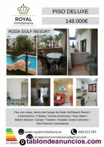 Venta apartamento en roda golg [amp;] beach resort