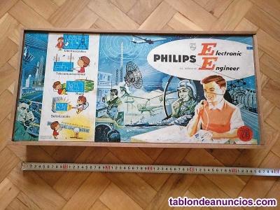 Philips electronic engineer ee20 años 60 - 70 en caja de madera. Muy incompleto.