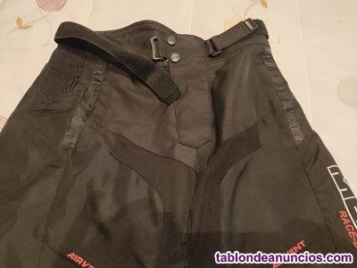 Pantalon moto con protecciones