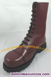 Botas de piel con puntera metal - Steel Ground (Made in Portugal)