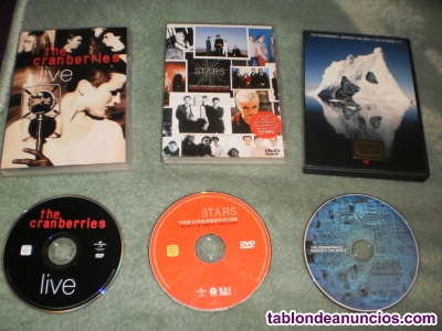 VENDO LOS 3 DVDS MUSICALES OFICIALES DE LA BANDA THE CRANBERRIES