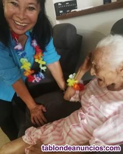 Me ofrezco para cuidar personas mayores