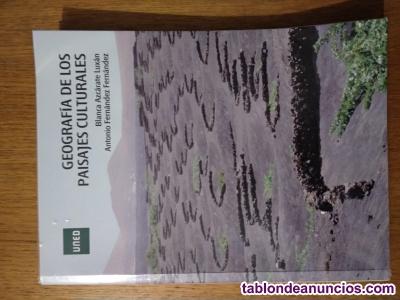 Vendo el libro geografía de los paisajes culturales  / uned
