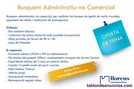Administrativo/va comercial