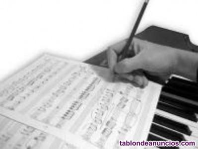 Clases de piano, guitarra, bajo, violin, batería, lenguaje musical