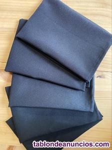 Servilletas tela negras y blancas