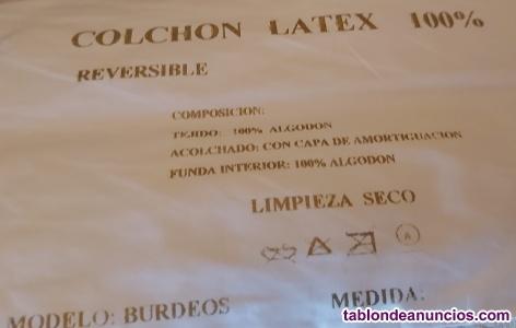 Se vende colchon latex 135x190