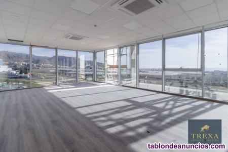 Se alquilan oficinas de nueva construcción con garaje privado en centro de negocios Viapark