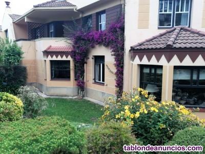 Magnifico chalet adosado con jardín en la bilbaina de 5 habitaciones