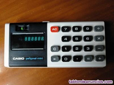 Antigua calculadora casio personal mini electronic calculator años 70 personal-m