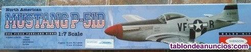 Maqueta del avión MUSTANG P-51