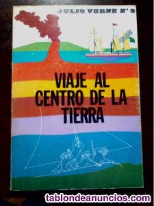 Libro ilustrado viaje al centro de la tierra de julio verne años 70