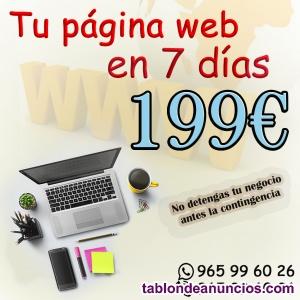 Paginas web o tiendas online en 7 días