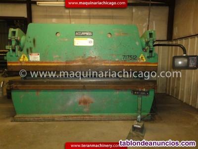 PRENSA HIDRAULICA ACCURPRESS 12 x 175 TON TOPE CNC