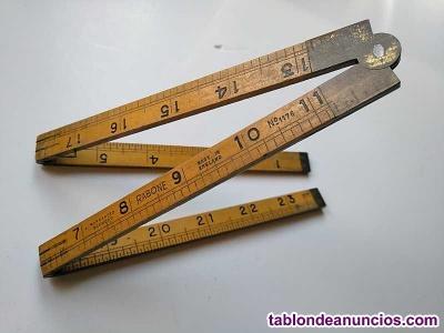 Metro regla plegable ingles rabone nº 1176 waranted boxwood made in england 24 p