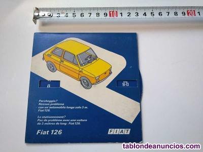 Fiat 126 antiguo disco de control de aparcamiento estacionamiento años 70
