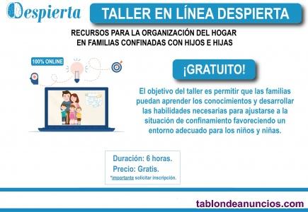 Taller GRATIS online para padres y madres
