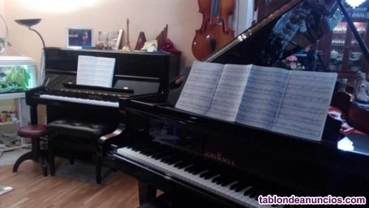 Clases de música, piano.