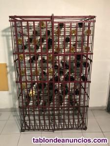 Botelleros antiguos  forjados  de principios del siglo pasado