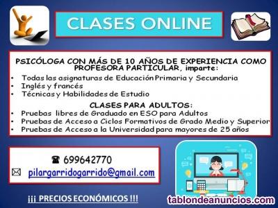 Clases on line todas las asignaturas primaria y secundaria