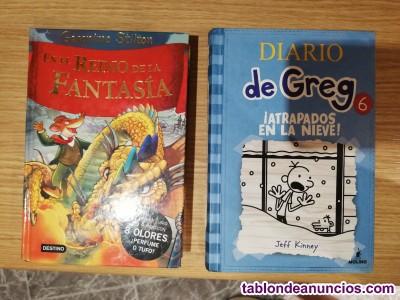 Libros de geronimo stilton y el diario de greg