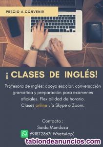 Clases de Inglés Onine