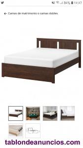 Cama matrim + colchón IKEA (un año de antigüedad)