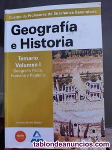 Libros / temario oposiciones secundaria geografia e historia
