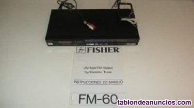 Sintonizador de radio fisher