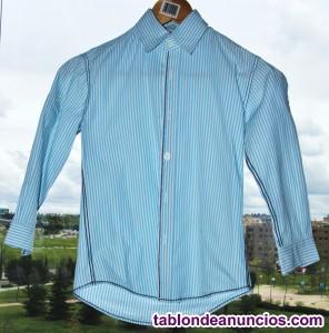 Camisa BTS RAYAS AZUL CLARO T6