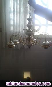 Lámpara metal y porcelana