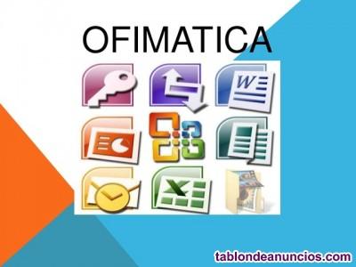Licenciada imparte Clases Online Ofimática e Internet