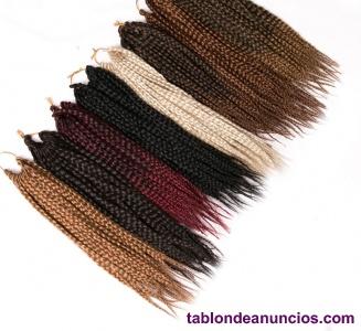 Venta de trenzas hechas de ganchillo (crochet)