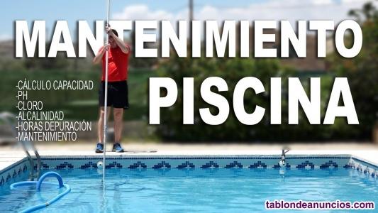 Recuperación y mantenimiento piscina