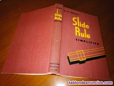 Libro regla de calculo slide rule simplified by c.o. Harris 1953 rechenschieber