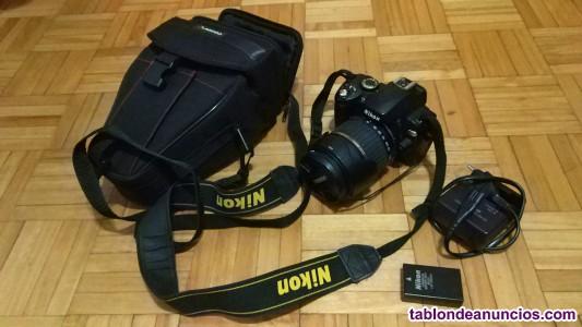 Cámara Nikon D60 + objetivo Tamron 18-200