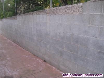 Muros y vallas de bloques de hormigón